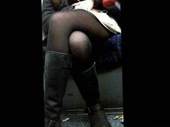 Sexy legs on train 2