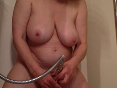 Mom Masturbating in the Shower MarieRocks MILF