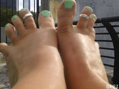 Candid Feet and Soles at the Park 2