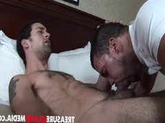 Latin stud gets his huge cock sucked