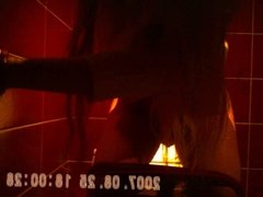 pretty brunette long hair taped private toilets pussy sazz