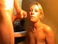 Blonde blowjob and sex