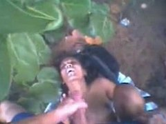 Hot indian girl gets fucked outdoor