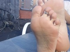 Mollys Feet Soles & Toes Wiggling