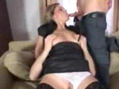 Amateur blonde wife bi-sex with male CIM