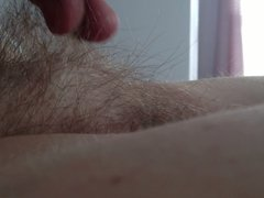 side view of the wifes tall long hairy pussy