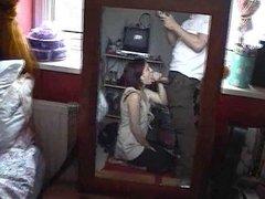 teen couple mirror cumshot