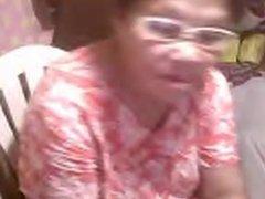 Asian granny Elizabeth 57 yr flashing 6 ( March 2014)