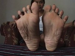 POV Asian feet