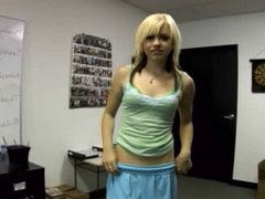 Petite blonde auditions :)