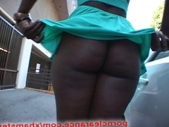 Big Black Booty Oiled And Fucked