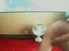 Webcam girl hits the spot
