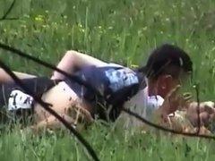 young teen couple outdoor fuck on hidden cam part 2