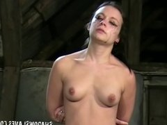 Young slave girl Pixie tied and whipped to tears in harsh sm