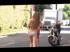 Amateurs Public bikini pulled off