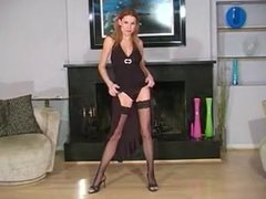 Jamie Lynn In Black And Tan Stockings JOI