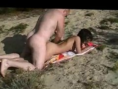 Hot Fuck and Cum on Beach BVR