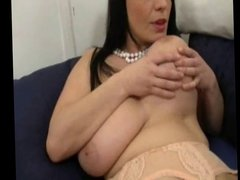 Busty Milf in Stockings Flashing and Fingering BVR