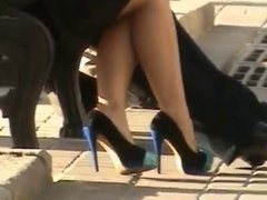 High heeels in Ukraine 13 green stilettos - Stabilized