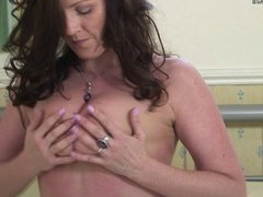 Sexy British natural MILF loves to masturbate