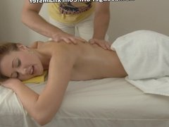 Hot chick hardly fucked on massage table with facial cumshot
