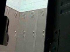Hot Blonde In Locker Room