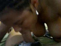 black woman struggles to deepthroat big cock - kcxxx