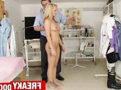 Super hot petite blonde teen Bella Anne at gyno clinic