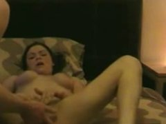 horny girl gets spunked up