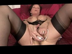 Horny Milf Flashing And Toying BVR