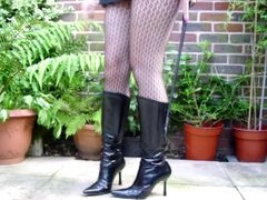 My wifes Wicked Cruel Spike heeled Kneehigh Boots