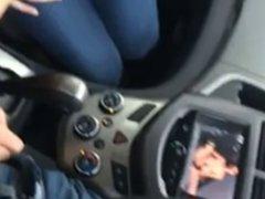 Nice handjob in a car