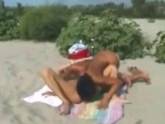 Nude Beach - Lesbian Show for Voyeurs