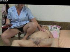Fat Mature massage Granny 86yo