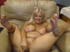 blonde mature pierced tits toying wet pussy