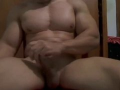 Muscle Man Jerking Off