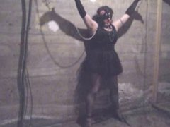 Self Bound Sissy in the Basement