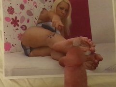 Blonde Demands Cock and Cum on Her Feet