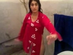 N.Indian Girl dressing after bath Captured by her BF