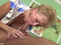 Horny Milf Sucks Her Husband's Cock