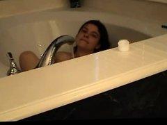 Cute Hairy Girl in Bath bVR