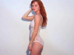 Ginger Hot Teen Lingerie