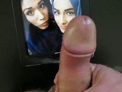 cum tribute hijabi