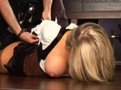 Hayley Leigh Gets Hogtied And Ball Gagged