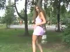 Teen cutie flashing in public