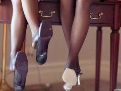 Double Nylon Feet Worship