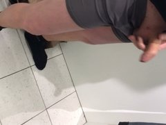 Wank in changing room