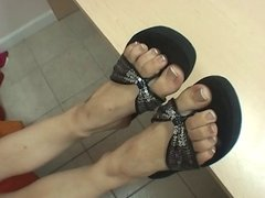 Teen shows feet for job