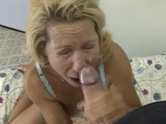 Blonde Mature Milf facial