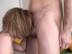 Blowjob a good girl, facial